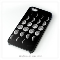 Moon Phases iPhone 4 4S 5 5S 5C 6 6 Plus , iPod 4 5 , Samsung Galaxy S3 S4 S5 Note 3 Note 4 , HTC One X M7 M8 Case