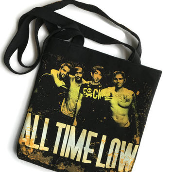 All Time Low Bag Upcycled T-shirt Tote Band Bag