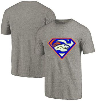 High Quality Summer Fashion Men's Broncos Fans T-Shirt, Denver Tees Superman S Logo Picture Printing Classical O-neck T Shirts