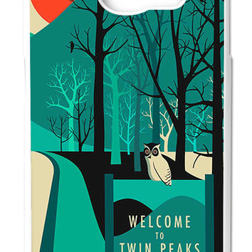 Twin Peaks Welcome To Twin Peaks Samsung Galaxy S6 Cases - Hard Plastic, Rubber Case