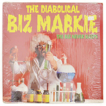 Vintage 80 The Diabolical Biz Markie The Biz Never Sleeps Old School Rap Hip Hop Album Record Vinyl LP