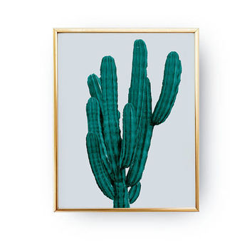 Cactus Green Print, Cactus Decor, Botanical Art, Boho Desert, Modern Prints, Desert Art Print, Floral Decor, Flower Wall Art, Plant Poster