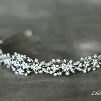 Bridal headband, wedding accessory, tiara, wedding headpiece, crystal headband, bridal hair piece (style H10)