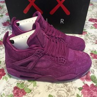 Kaws x Air Jordan 4 ( Purple ) Basketball Shoes