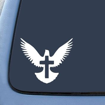 Peace Dove Christian Jesus Cross Logo Vinyl Sticker Decal Car Truck Windon Wall Laptop notebook