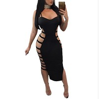 Women Sexy Fashion Strapless Dress