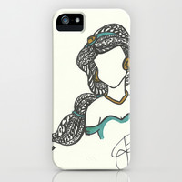 Princess Jasmine Zen Tangle iPhone & iPod Case by Jadie Miller