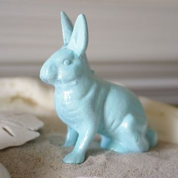 Home Decor Beach Bunny - Cast Iron Bunny  - PICK YOUR COLOR