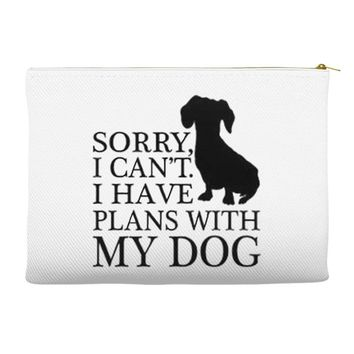 SORRY I CAN'T I HAVE PLANS WITH MY DOG Accessory Pouches