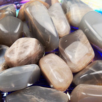 BLACK MOONSTONE Waning or New Moon Stone- Release the Old to Make Room for the New