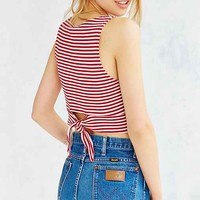 Truly Madly Deeply Tie-Back Striped Tank