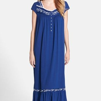 Women's Eileen West 'Ocean Scroll' Ballet Nightgown ,