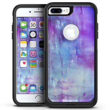Blotted Purple 896 Absorbed Watercolor Texture - iPhone 7 or 7 Plus Commuter Case Skin Kit