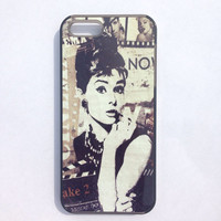 Audrey Hepburn iPhone 5 case,