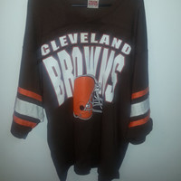 Vintage 80s Retro Cleveland Browns Shirt by Team Rated - XL