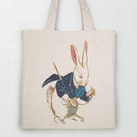 I'm Late Tote Bag by liberthine01