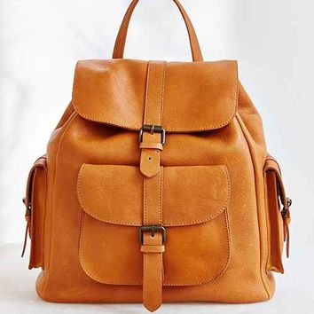 BDG Leather Pocket Backpack