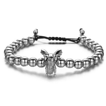 Elephant Bracelet with Adjustable String | Distance Couples Relationship Bracelets