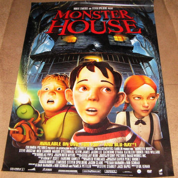 Monster House Movie Poster 27x40 Used Brittany Curran, Steve Buscemi, Woody Schultz, Kevin James, Jason Lee, Maggie Gyllenhaal, Nick Cannon, Mitchel Musso, Catherine O'Hara, Kathleen Turner, Fred Willard, Erik Walker, Jon Heder