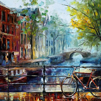 "Amsterdam — PALETTE KNIFE Oil Painting On Canvas By Leonid Afremov - Size: 30"" x 36"" (75 cm x 90 cm) from afremov art"