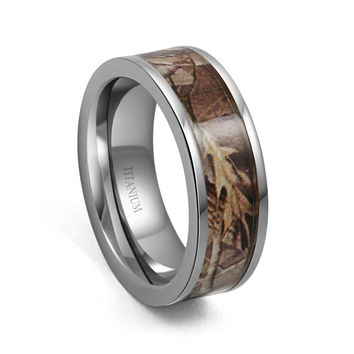 7mm camo hunting camouflage wedding band camouflage wedding bandtitanium ring men women - Camo Wedding Rings For Men