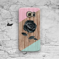 Rose Galaxy S6 Case, Samsung Galaxy S5, Geometric Galaxy S6 Edge, Galaxy S6 Edge Plus, S3 S4 S5 Note 3 4 5 Cool Hipster Pink Wood Cute Cover