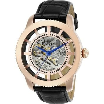 Invicta Men's 23639 Vintage Automatic 3 Hand Rose Gold Dial Watch