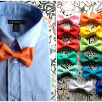 Orange baby, boys or mens bowtie, bowties perfect for fourth of July, Photo Prop, or Photography Session