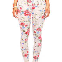 Pearl Floral Leggings | Leggings at Pink Ice