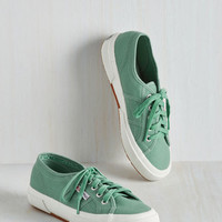 Minimal Active Kindness Sneaker in Sage