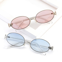 Trends Women Sunglasses Small Clear Lens Sunglasses Brand Designer Men vintage Sun Glasses Metal Frame ZM-06