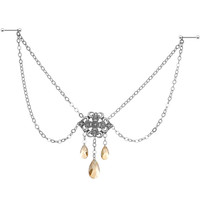 Handcrafted Filigree Dream Nipple Chain MADE WITH SWAROVSKI CRYSTALS | Body Candy Body Jewelry