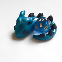 Dice Holder, Dragon Dice Holder, Dragon Figure, Geekery Accessory, Dungeons and Dragons, Die 20 holder, D20 holder, Dragon Dice