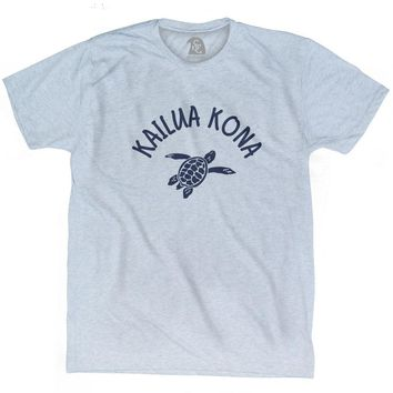Kailua Kona Beach Sea Turtle Adult Tri-Blend T-shirt