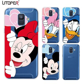 UTOPER Mickey Case For Samsung Galaxy J4 J6 2018 Case Mouse Silicone Phone Case Cover For Samsung Galaxy A6 A6 Plus 2018