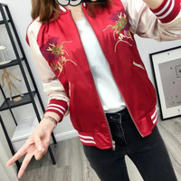 Hot Deal Sports On Sale Autumn Stylish Fashion Pattern Embroidery Long Sleeve Jacket Baseball [8173497287]