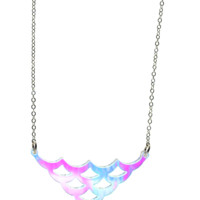 Mermaid Scales Necklace in Iridescent Hologram