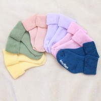 Baby Socks Thick Cotton Socks Baby Infant Solid Warm Socks 1 Pairs 0-2Y
