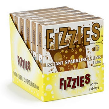 Fizzies Candy Drink Tablets Packs - Root Beer: 6-Piece Box