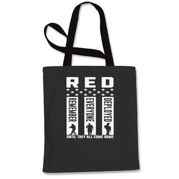 RED Remember Everyone Deployed Shopping Tote Bag