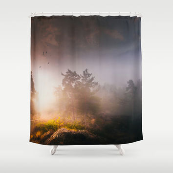 Cleansing Shower Curtain by HappyMelvin