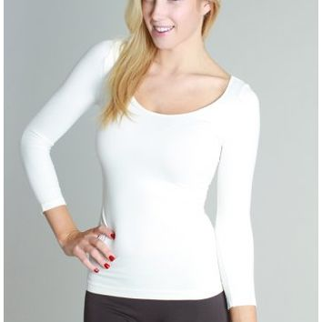 The Perfect 3/4 Sleeve Seamless Basic Top