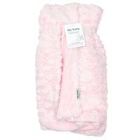 Plush Pink Embossed Baby Blanket 311197669