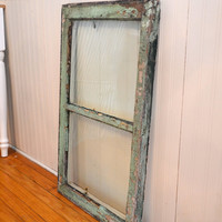 Vintage Shabby Chic Chippy Old Farmhouse Wood Window