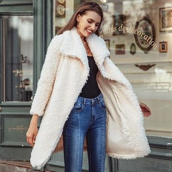 Koko Faux Fur Coat - Ivory