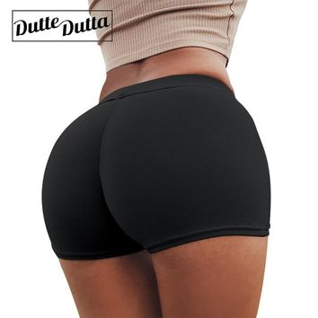 Women's Sports Wear Tight Compression Hot Yoga Shorts For Women Gym Sport Woman Short Fitness Push Up Workout Ladies Activewear