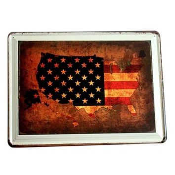 America Village Iron Bar Vintage Wall Hanging Decoration   3
