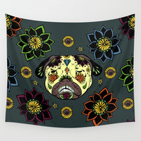 Calavera Paxicana Wall Tapestry by Huebucket