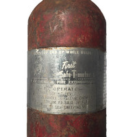 Steel Dry Chemical Fire Extinguisher | Pressure Gauge | Grip Top and Rubber Hose | Vintage Firefighting | History