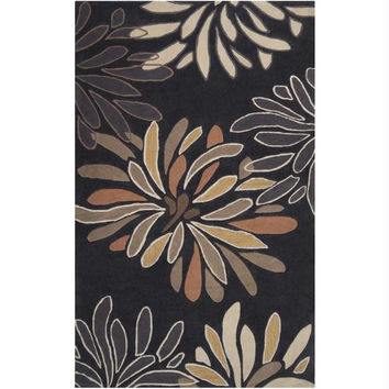 Area Throw Rug - Tan, Raw Umber, Sepia, Wenge, Biscotti, Black Olive, Gold